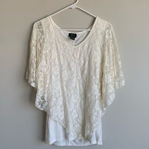 Tops - 🌞5 for 25!🌞 floral lace long flowy top